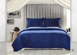 Rochelle Twilight Blue King Quilt Set