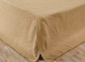 Burlap Natural Bed Skirt