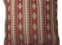 Bucking Bronc Euro Sham. Beautiful Navajo Red, tan and cream diamond western motif. Goes with our Bucking Bronc Bunkhouse Bedding