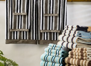 Superior Striped 6 Piece Towel Set. Stylish and practical, absorbent and durable luxurious long-staple 100% cotton. Available in 4 basic color palettes