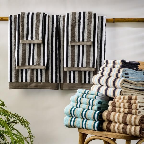 Bathroom Towels Striped: Superior Striped 6 Piece Towel Set-Teton T Trading