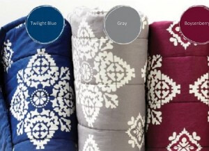 Adelaide Quilts in Twilight Blue, Grey, and Boysenberry