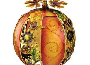 Sunflower Glass Pumpkin