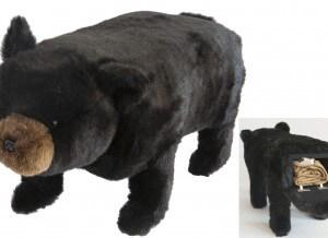 Big Ben Black Bear Storage Footstool