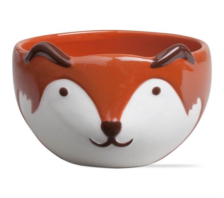 Franny Fox Ceramic Bowl Teton Timberline Trading