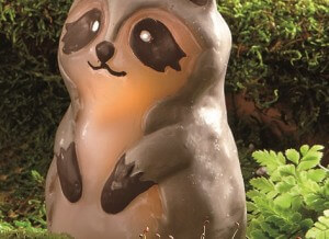 Flameless LED Remy Raccoon Candle