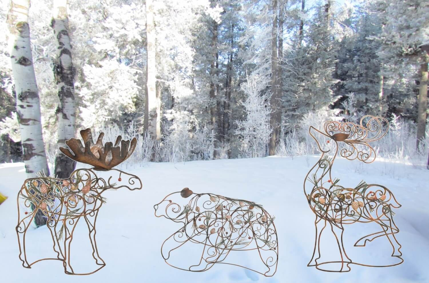Lodge Metal Wildlife Decor Teton Timberline Trading