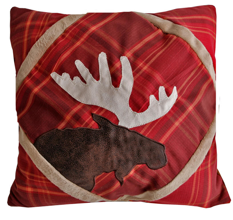 highland lake plaid queen comforter set adirondack woodlands euro sham red plaid moose pillow