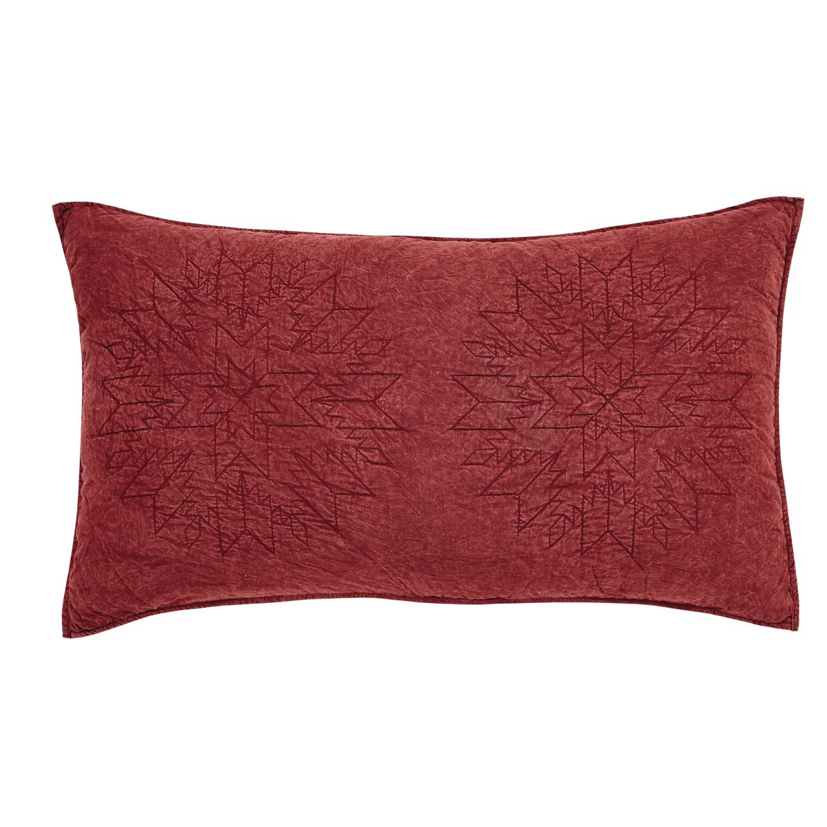 Western Star Home Decor Cheyenne American Red Luxury Pillow Sham Teton