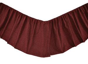 Cheyenne American Red Twin Bed Skirt