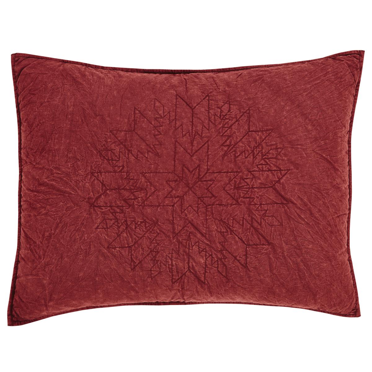 cheyenne american red standard pillow sham teton. Black Bedroom Furniture Sets. Home Design Ideas