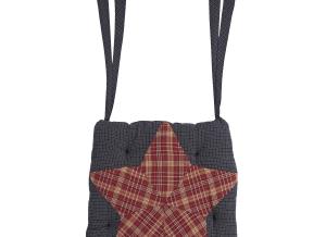 Arlington Patchwork Star Chair Pad Set
