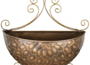 Bronze Lotus Wall Planter