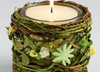 Mossy Twig Candle Holder
