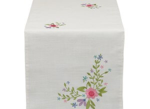 Spring Fling Embroidered Table Runner