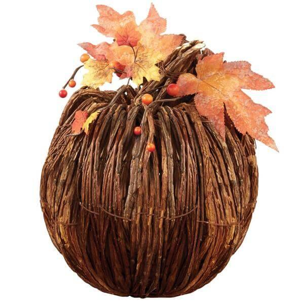 Large Twig Pumpkin Teton Timberline Trading