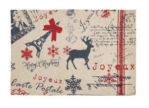 Joyeux Noel Placemat Sat