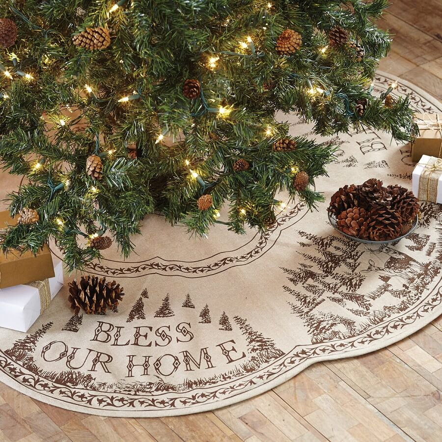 Woodland Bark Mini Tree Skirt - Teton Timberline Trading ...
