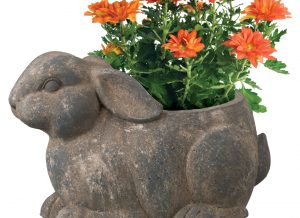 Rustic Garden Rabbit Planter