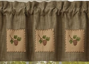 Pineview Lined Patch Valance