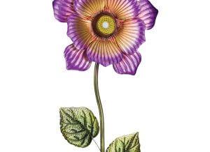 Wireless Speaker Purple Flower Stake