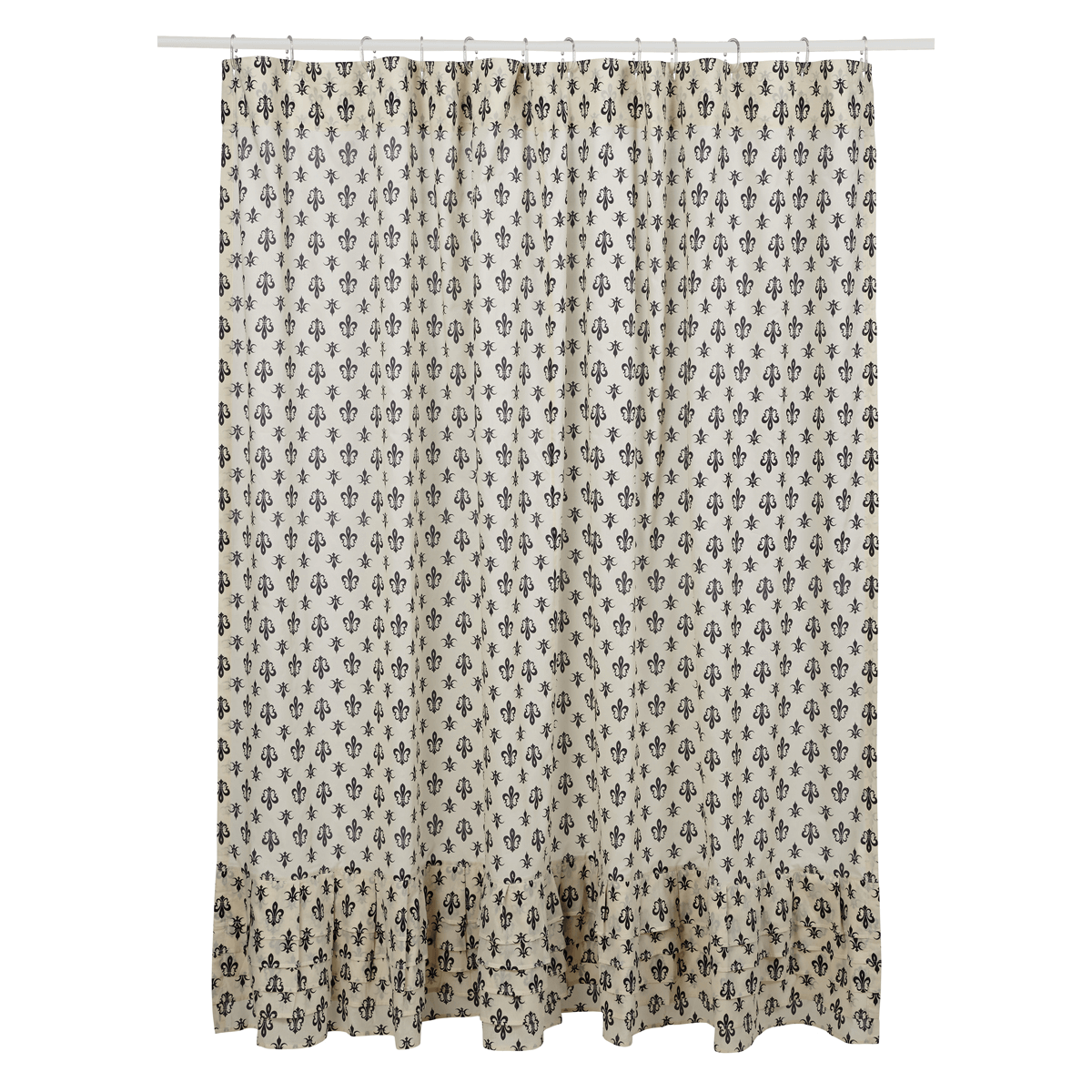 Elysee Fleur De Lis Shower Curtain Teton Timberline Trading