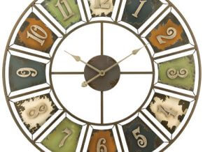 Rustic Numbers Decorative Wall Clock