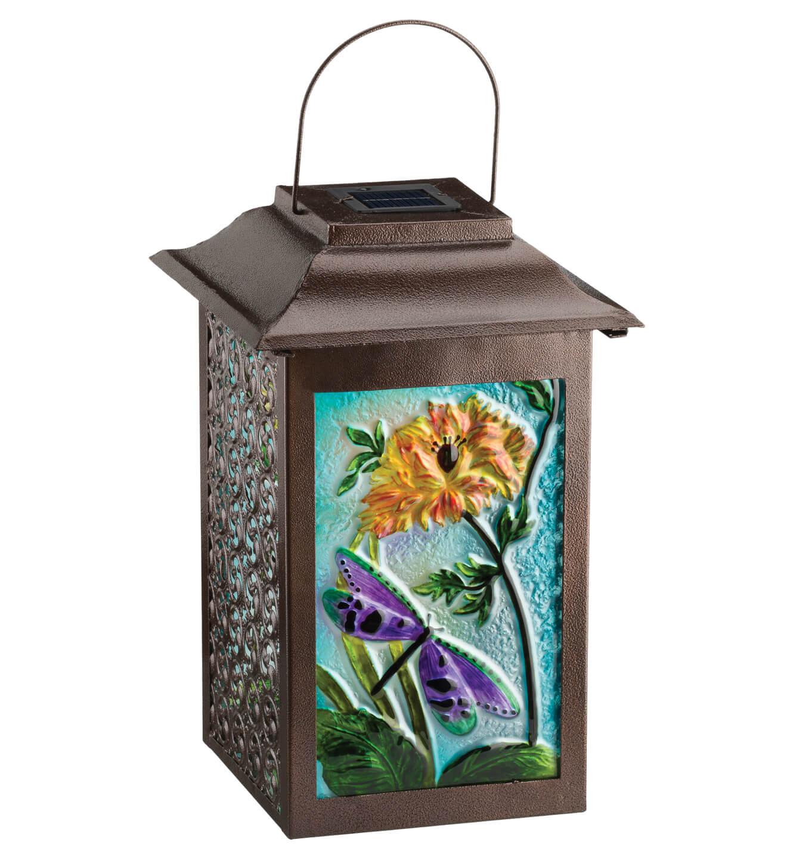 Solar Garden Dragonfly Hanging Lantern Teton Timberline