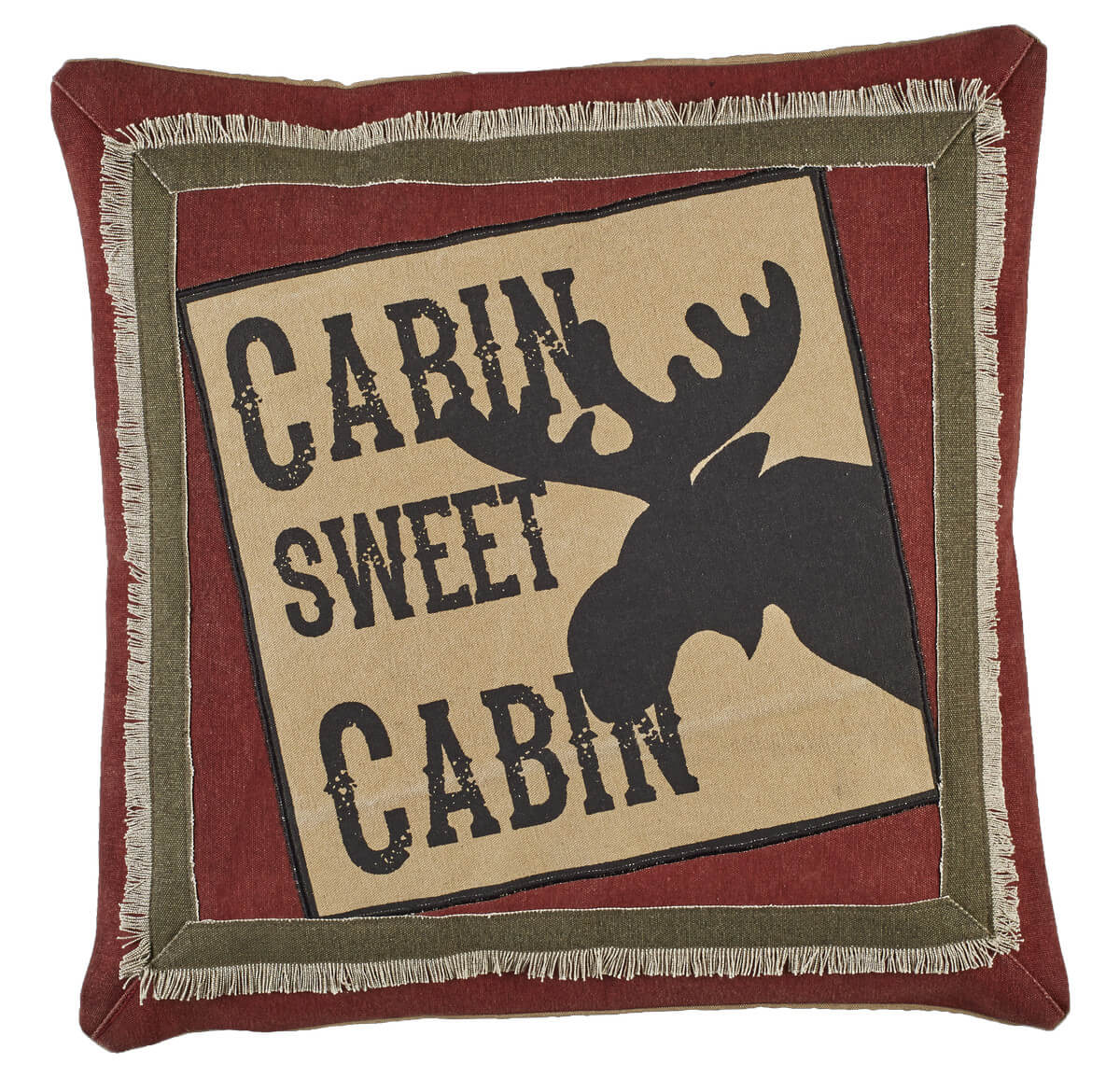 Cabin Sweet Cabin Throw Pillow-Teton Timberline Trading ...