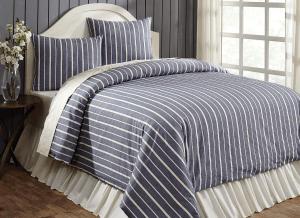 Collector Stripe Navy King Duvet Cover Set