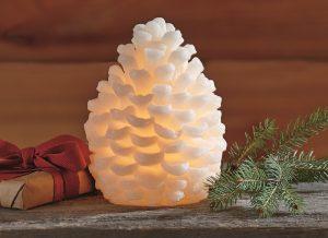 Flameless LED Pinecone Candle