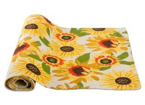 Festive Fall Sunflower Table Runner
