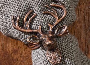 Bronze Stag Napkin Ring