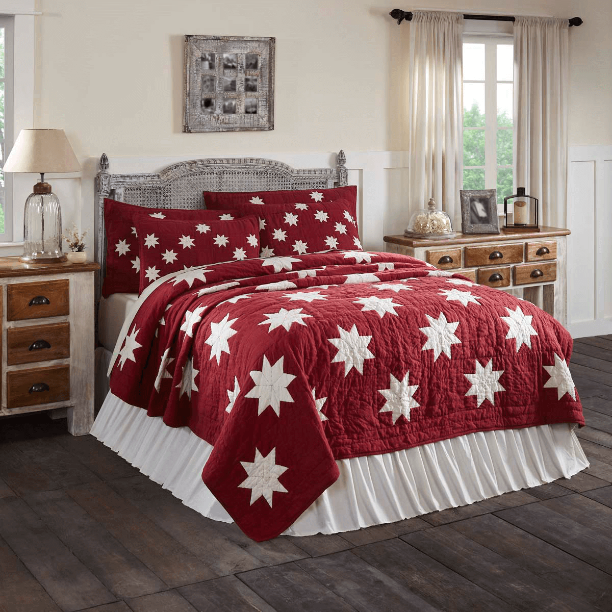 Kent Snowflake Quilt Collection - Teton Timberline Trading ... : red snowflake quilt - Adamdwight.com