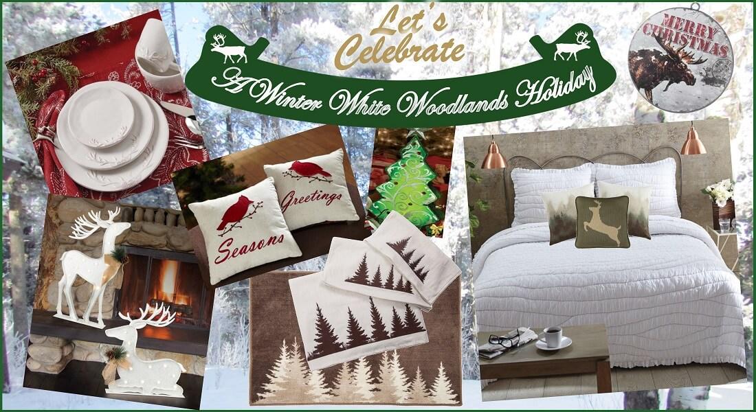 Winter White Woodland Holiday