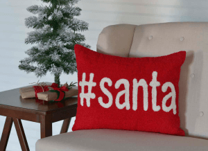 Hashtag Santa Throw Pillow