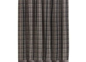 Country Gray Plaid Shower Curtain