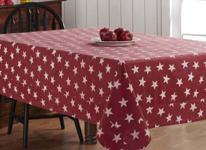 Multi Star Red Tablecloth