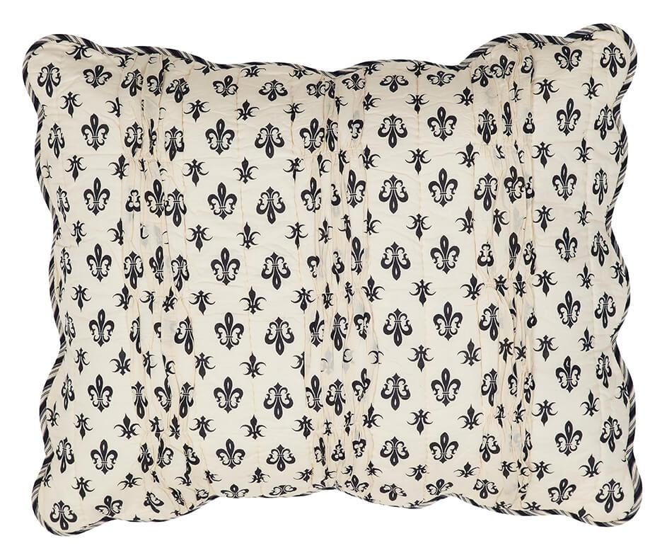 Elysee Fleur De Lis Standard Pillow Sham