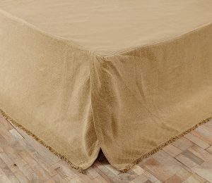 Burlap Natural Bed Skirt
