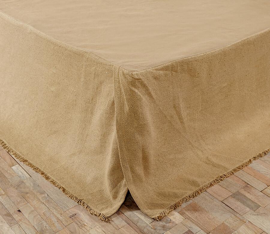 Burlap Natural King Bed Skirt Teton Timberline Trading