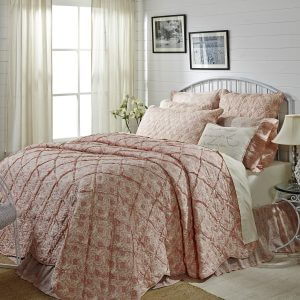 Romantic Ruffled Genevieve Luxury Quilt