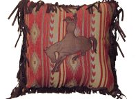 Bucking Bronc Emblem Pillow