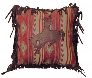 Bucking Bronc Emblem Pillow