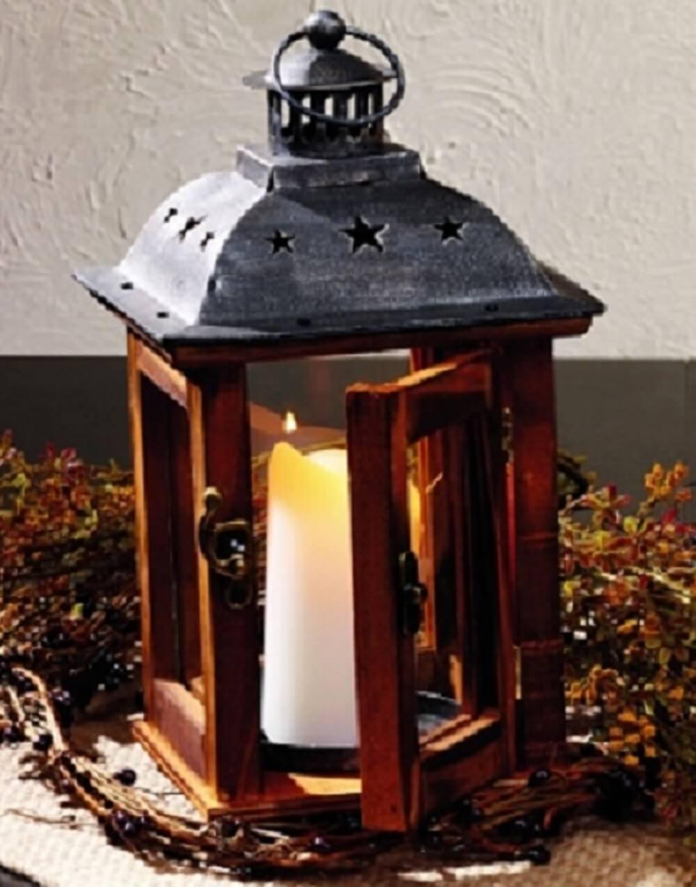 Small Vintage Lake Lantern Teton Timberline Trading