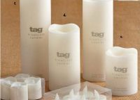 LED Ivory Pillar Candles. Flameless, low heat L.E.D. battery operated candles for lanterns, candleholders, table tops. 100% paraffin wax wall. 3 Switch Options: On, Off, and 5 hour timer