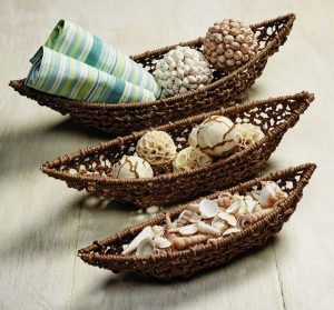 Jute River Boat Basket Set