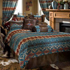Turquoise Hacienda Comforter Set