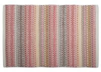 "Soft Desert Hues Artisan Rug. Soft desert hues of red, brown, gray, and cream. Handwoven. 100% cotton. 36"" x 24"