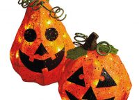 Lighted Pumpkin Decor Set